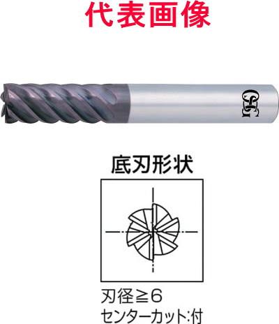 OSG WXSスーパーコートエンドミル 6枚刃:刃長:ショートタイプ 10.0×22.0×80mm シャンク径:10mm