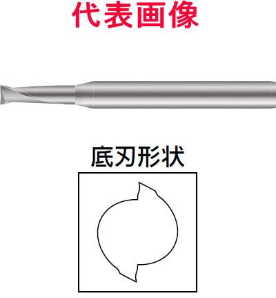 京セラ 仕上げ・刃先強化エンドミル 2枚刃:刃長:ミディアムタイプ 8.5×19×70mm シャンク径:10mm