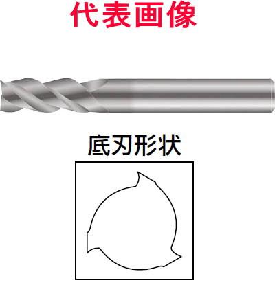 京セラ 中荒・仕上げエンドミル 3枚刃:刃長:ミディアムタイプ 12.0×25×76mm シャンク径:12mm