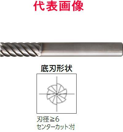 大見工業 超硬エンドミル 6枚刃:高硬度鋼加工用 12×30×100mm シャンク径:12mm