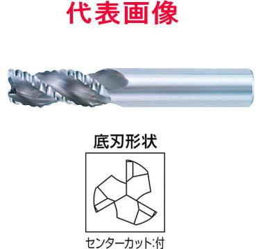 三菱マテリアル 超硬ラフィングエンドミル 3枚刃 刃長ミディアム アルミ用 6×13×50mm シャンク径:6mm