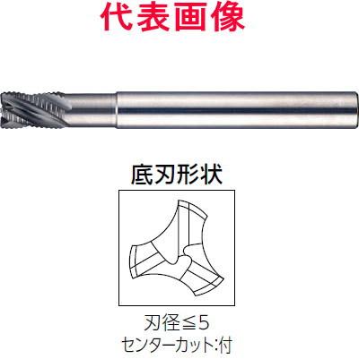 4×6.0×56mm 超硬ラフィングエンドミル 三菱日立ツール 首下3Dcタイプ 3枚刃 エポックSUSウェーブ シャンク径:6mm