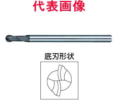 日進工具 超硬ボールエンドミル 2枚刃 高硬度用 6.00×20.0×100mm シャンク径:12mm
