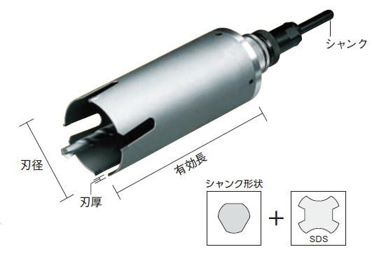 ハウスBM 2020春夏新作 サイディングウッドコア テレビで話題 刃径:40mm 有効長:150mm 刃厚:2.5 セット品 SDS兼用 シャンク:10mm