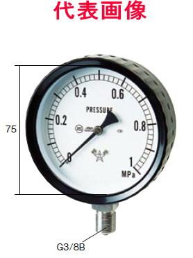 右下精器製造 ステンレス圧力計 A形立型 75径 2.50MPa