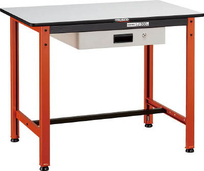 TRUSCO(トラスコ)立作業小型作業台 TFAE型 引き出し付き 300kg荷重 ポリ化粧天板 900mm×600mm×740h