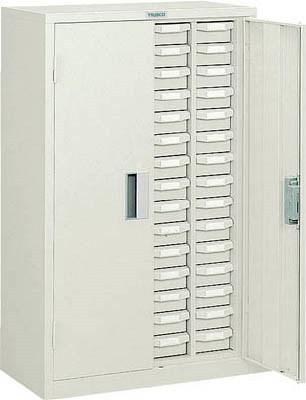 TRUSCO(トラスコ)引出しタイプパーツケース A型 4列15段/60個 ケース:ネオグリーン 扉付き