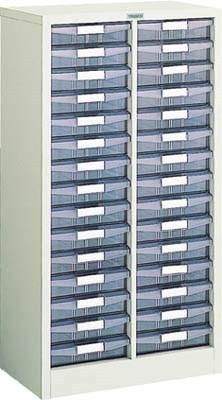 TRUSCO(トラスコ)引出しタイプパーツケース AW型 2列15段 ケース:透明