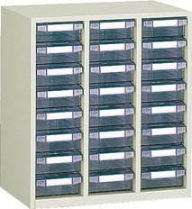 TRUSCO(トラスコ)引出しタイプパーツケース B型 3列8段 ケース:透明