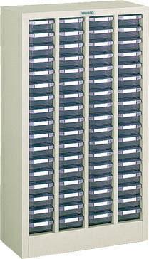 TRUSCO(トラスコ)引出しタイプパーツケース B型 4列17段 ケース:透明