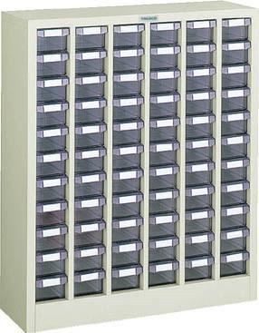 TRUSCO(トラスコ)引出しタイプパーツケース D型 6列11段 ケース:透明
