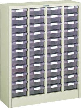 TRUSCO(トラスコ)引出しタイプパーツケース E型 4列11段 ケース:透明