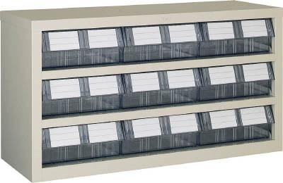 TRUSCO(トラスコ)引出しタイプパーツケース TM型 AS樹脂引き出しタイプ 3段3列