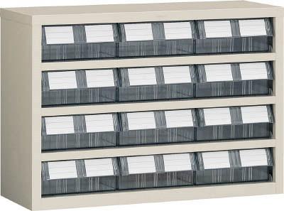 TRUSCO(トラスコ)引出しタイプパーツケース TM型 AS樹脂引き出しタイプ 4段3列