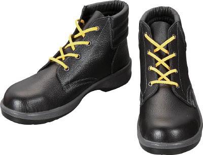 シモン 静電軽量安全靴 編上靴ワイド樹脂先芯 ブラック