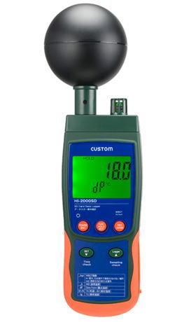 CUSTOM(カスタム)データロガー熱中症計HI-2000SD