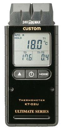 CUSTOM(カスタム)デジタル温度計(Kタイプ2ch)KT-02U