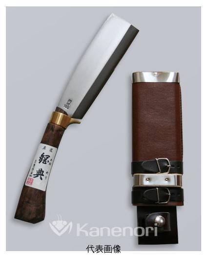 五十嵐刃物 鋼付き最高級鞘鉈 鍔付コブ柄 180mm
