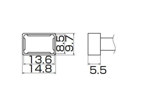 白光(HAKKO)FX-950/951/952型 こて先T12シリーズ クワッド13.6×8.5T12-1201