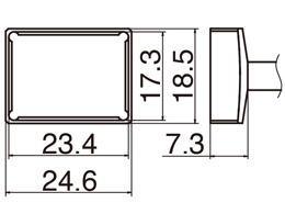 白光(HAKKO)FX-950/951/952型 こて先T12シリーズ クワッド23.4×17.3T12-1205
