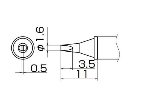 白灯 (HAKKO) FX-950/951/952-私人提示 T12 系列 1.6 WD-T12-WD16