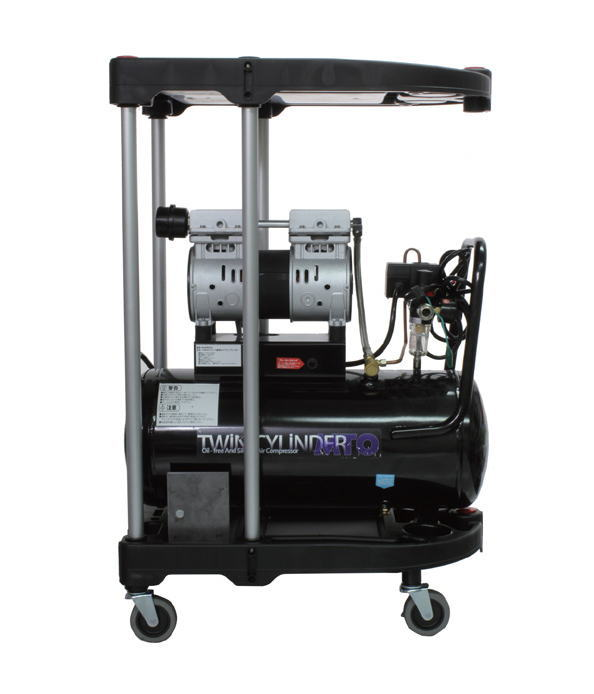 割引発見 静音オイルレスコンプレッサー 30L&カート:工具のお店 モンジュSHOP-DIY・工具