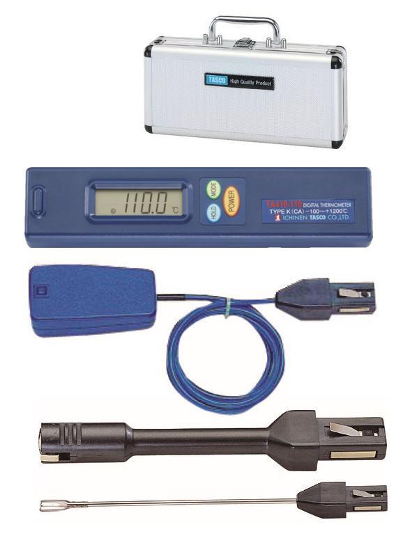 TASCO(タスコ) デジタル温度計セット(空調設備業者向け) TA410AX