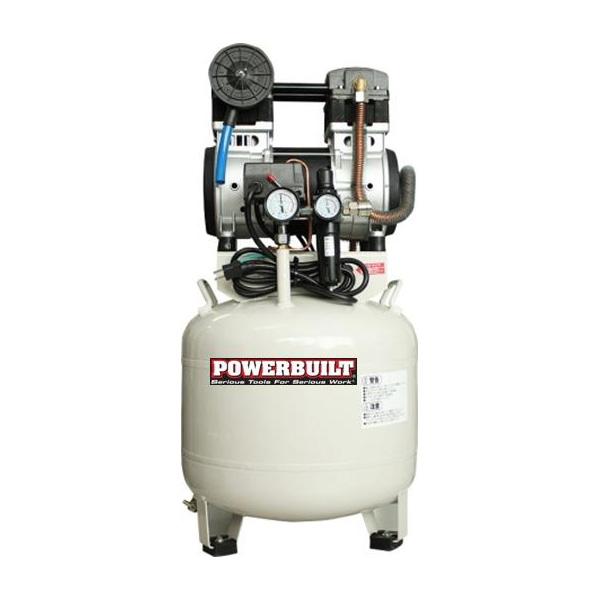 パワービルド 静音ツインシリンダーコンプレッサー 38L