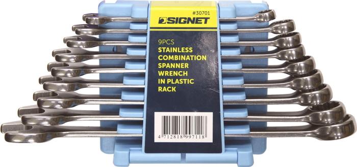 SIGNET(シグネット) ステンレスコンビネーションレンチセット 9本組 30701