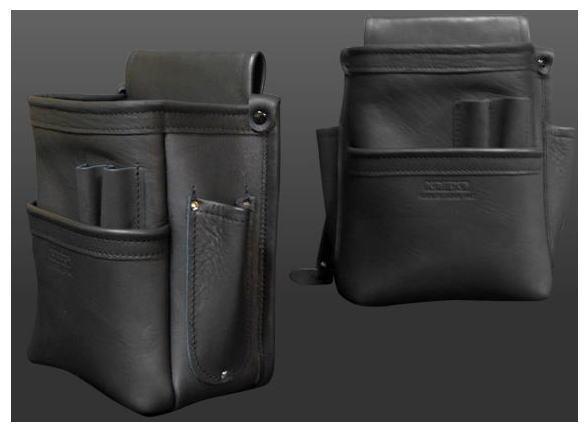 KNICKS(ニックス)総グローブ皮仕上腰袋フチ総グローブ革テープ巻 KB-201DDSP