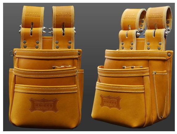 KNICKS(ニックス)最高級硬式グローブ革チェーンタイプ3段腰袋(キャメル) KGC-301DDX