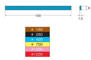 Leutor(リューター)セラミックスティック砥石(スーパーストーン)W=1.5 6×100 #280