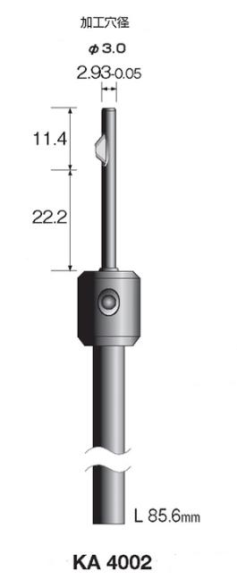 Minimo(ミニター)ストレートホールバー ハイスブレードタイプ 3.0mm用 軸径6.35