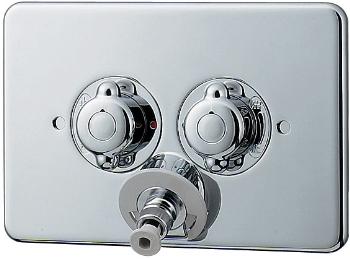 カクダイ 洗濯機用混合栓 天井配管対応