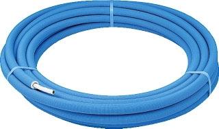 カクダイ メタカポリ管(3層管) 保温材付(青) 13用 25m