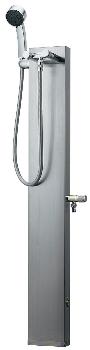 カクダイ 水栓柱シリーズ ステンレスシャワ混合水栓柱 ヘアライン仕上げ 1200mm