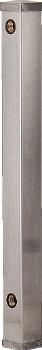 カクダイ 水栓柱シリーズ ステンレス水栓柱 60角 1200mm