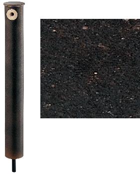 カクダイ 水栓柱シリーズ 陶器製庭園水栓柱 砂鉄 710mm