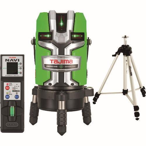 タジマレーザー墨出器 NAVIゼロジーセンサーKJC(縦:4方向/横:全周/地墨) 受光器・三脚セット ZEROGSN-KJCSET