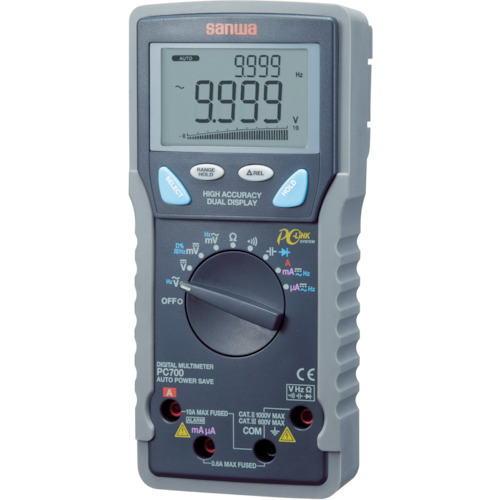 サンワ(SANWA)デジタルマルチメーター パソコン接続型 PC700