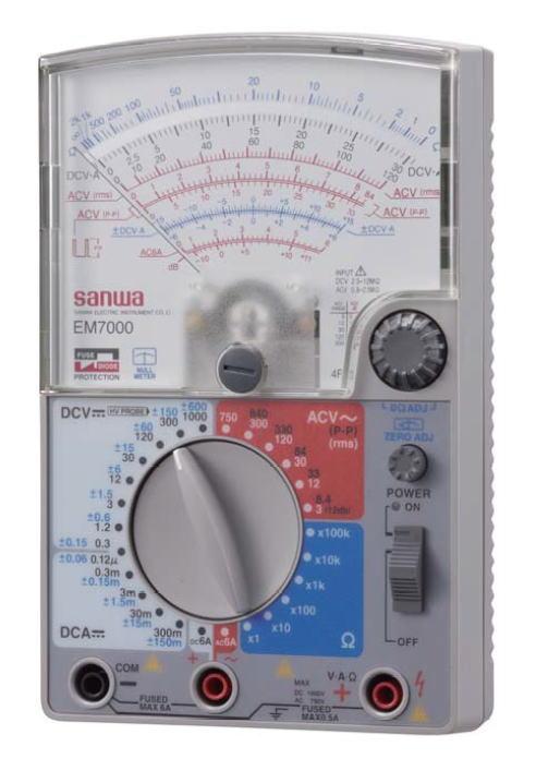 サンワ(SANWA)アナログマルチテスター 高感度型 EM7000