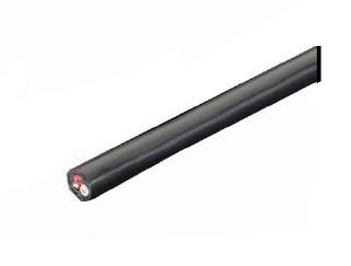 VCTFケーブル 19A 300V(2.0mm2×3芯) 黒色 20m