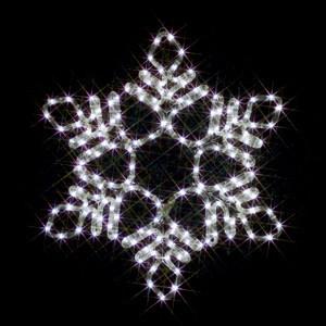 JEFCOMLEDイルミネーション LEDモチーフ(全点灯) 雪の・居サ(中・白)