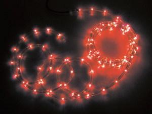 JEFCOMLEDソフトネオン パーツ連結型 赤色×赤色 16m