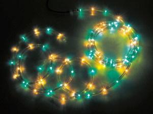 JEFCOMLEDソフトネオン パーツ連結型 緑色×黄色 16m