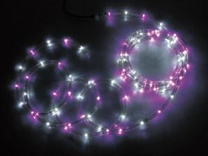 JEFCOMLEDソフトネオン パーツ連結型 ピンク×白色 16m