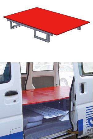 車載用収納システム システムキャビネット 普通車用 高さ200mmタイプ テーブル(奥行950mm)