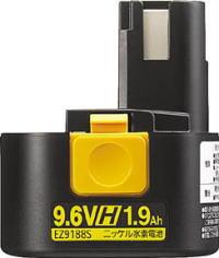 Panasonic(パナソニック)ニッケル水素電池パック 9.6V 1.9Ah EZ9188S
