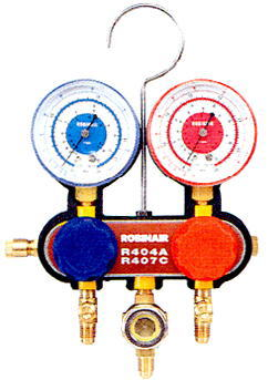 ROBINAIR(ロビネア)ゲージマニホールドサイトグラス付547-SHF