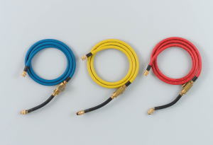 ROBINAIR(ロビネア)R404A/R407C残留ガス放出防止用ボールバルブ付ハイプレッシャーホース150cm 3本セット65060
